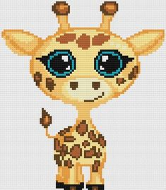Crochet Baby Blankets Giraffe Baby Afghan, Crochet Pattern - This baby giraffe is so cute with his big ol' eyes! Sure to be loved by your little one! What you need for the Baby Giraffe afghan: Crochet Baby Booties, Baby Blanket Crochet, Cross Stitch Designs, Cross Stitch Patterns, 8bit Art, Baby Afghans, Baby Blankets, Afghan Crochet Patterns, Love Crochet