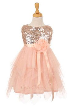 e7a218f3352 New Blush Flower Girls Dress Pageant Wedding Birthday Party Christmas Fancy  6370