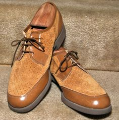 """Definitely the hipster star - Hushpuppies from the 50s - and never worn! Suede and leather, that nice cushy sole - but in a size 9, which won't fit any of my """"bigfeet"""" boys! These and others like them from Jennifer in her store flyfishark on etsy."""