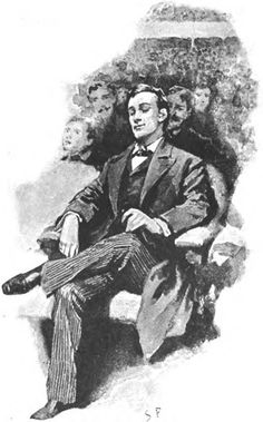 Sherlock Holmes by Sidney Paget. My favorite illustration of him. (orig. pinner comment) MIght be Frederick Dorr Steele.