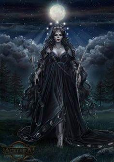 Star Goddess, Goddess Art, Moon Goddess, Hecate Goddess, Celtic Goddess, Wiccan Jewelry, Irish Jewelry, Moon Earrings, Moon Necklace