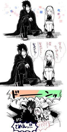 Image shared by Neffie. Find images and videos about naruto, sakura and sasuke on We Heart It - the app to get lost in what you love. Naruto Uzumaki, Anime Naruto, Naruto Comic, Sasuke Uchiha Sakura Haruno, Naruto Fan Art, Naruto Cute, Sakura And Sasuke, Naruto And Sasuke, Manga Anime