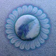 Painted Feather Wreath by Susanne Menne. Online Course – Bernina blog
