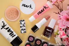 Overview of Avon Mark Brand - lip gloss, primer, mineral powder, lipsticks and nail polishes