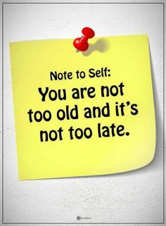 Note to self you are