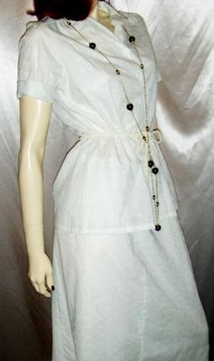 70's Bohemian White Embroidered Eyelet Long Skirt & Blouse Outfit