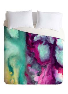 Teary Rivers Duvet Cover #watercolor #decor