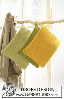 Felted - Free knitting patterns and crochet patterns by DROPS Design Knitting Patterns Free, Free Knitting, Free Pattern, Crochet Patterns, Knitted Washcloths, Knitted Bags, Drops Design, Felt Cushion, Magazine Drops
