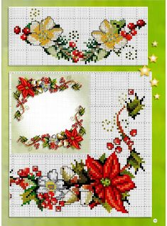 Christmas Table Cloth, Christmas Embroidery, Xmas Cross Stitch, Cross Stitch Needles, Cross Stitch Borders, Counted Cross Stitch Patterns, Cross Stitch Flowers, Cross Stitch Charts, Cross Stitching
