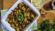 Pravý houbový kuba z brambor s česnekem Potatoes, Beef, Vegan, Cooking, Fit, Cuba, Red Peppers, Meat, Kitchen