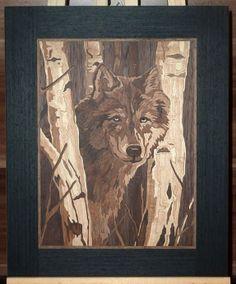 wolf im birkenwald
