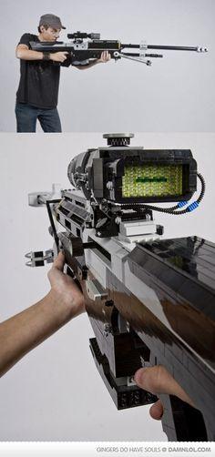 Nick Jensen's Awesome Lego Sniper Rifle - Damn! LOL