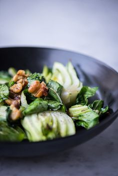 Simple Roasted Baby Bok Choy www.pineappleandcoconut.com