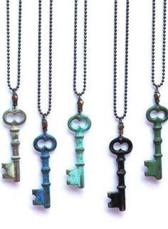 Skeleton Key Necklace,  Jewelry, skeleton key  vintage  boho  bohemian, Bohemian (Boho) / Hippie