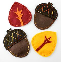 Acorn & Leaf Felt Fall Coasters is part of Fall Felt crafts - Fall Felt Crafts, Autumn Crafts, Felt Diy, Thanksgiving Crafts, Diy Autumn, Felt Coasters, Diy Coasters, Fall Sewing, Sewing For Kids