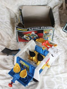 Micronauts Mego Astro Station Playset Complete with partial box 1976 #Mego