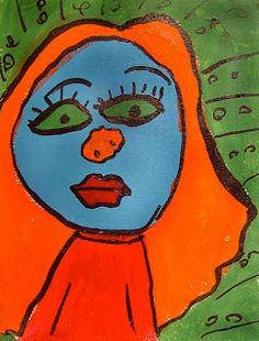 Art Projects for Kids: Fauve portrait vibrant unnatural color new and modern, Van Gogh, Gauguin Keith Haring, Projects For Kids, Art Projects, Project Ideas, Grace Art, Gauguin, Art Lessons Elementary, Arts Ed, Baby Cartoon