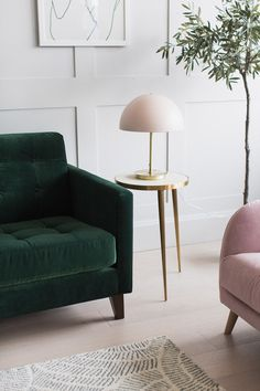 Home Decoration With Paper Flowers Room, Living Room Green, Arm Chairs Living Room, Living Dining Room, Living Room Decor, Green Sofa Living, Velvet Living Room, Green Sofa Living Room, Velvet Sofa Living Room