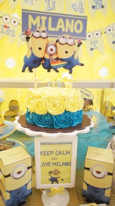 despicable me 2 birthday party | ... despicable me party available in kara s party ideas shop 2 sided white
