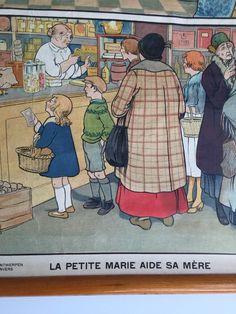 Wandkaarten van Marietje helpt moeder detail1