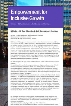 Empowerment for Inclusive Growth