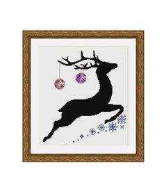 "Cross stitch pattern ""Deer"",Instant download PDF"