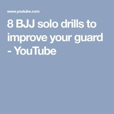 8 BJJ solo drills to improve your guard - YouTube