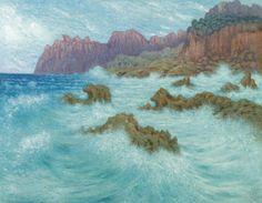 Têmpete à la Cala San Vicente, Majorca, 1901, William Degouve de Nuncques