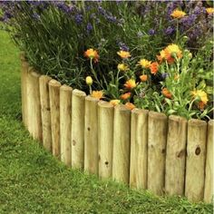 Wooden Log edging-could I make my own using galvanized wire stapled to the backside of the logs? Maybe use different heights of logs for visual interest?