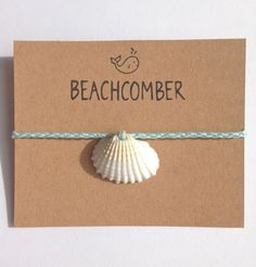 beach anklet, shell