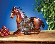 Deco Breeze DBF0334 Horse Figurine Fan