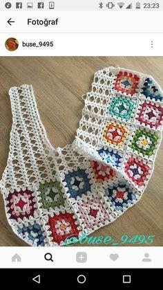 Fabulous Crochet a Little Black Crochet Dress Ideas. Georgeous Crochet a Little Black Crochet Dress Ideas. Crochet Squares, Crochet Granny, Crochet Motif, Crochet Flowers, Crochet Stitches, Crochet Baby, Crochet Patterns, Granny Squares, Rug Patterns