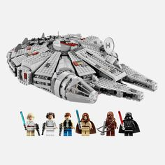 Straight from the Death Star escape scene of Episode IV: A New Hope, the LEGO Millennium Falcon features stunning details. A great Star Wars Lego set! Lego Star Wars, Star Wars Set, Star Wars Toys, Star Trek, Millennium Falcon, Chewbacca, Teddy Ruxpin, Mario Kart 64, Lego Toys