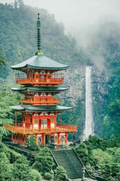 Beautiful Places That Belong on your Japan Bucket List Nachi Falls - the tallest waterfall in Japan.and the most beautiful! The Most Beautiful Places You Have to Add to your Japan Bucket List. Check out these incredible places in Japan on Beautiful Places In Japan, Beautiful Places To Visit, Cool Places To Visit, Beautiful Sites, Beautiful Beautiful, Japan Places To Visit, Beautiful Things, Wonderful Places, Beautiful World