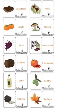Learning Italian Language ~ Le flashcard dell'autunno sono per...buongustai! #learnitalian #italianlanguage #italian #italiano #linguaitaliana