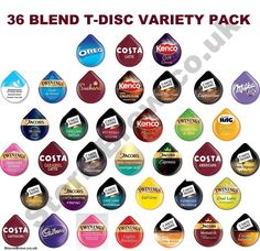 46 TASSIMO T DISCS VARIETY TASTER, STARTER PACK: COFFEE CHOCOLATE PODS: 36 BLEND in Home, Furniture & DIY, Food & Drink, Coffee Beans, Grounds & Pods | eBay