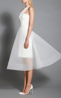 One Shoulder Cocktail Dress by Romona Keveža | Moda Operandi