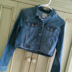 blue jean crop jacket Only been worn maybe 1-2 times. In good condition! Fits  size small as well cello Jackets & Coats