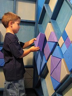 Interactive wall. Learn to create patterns.