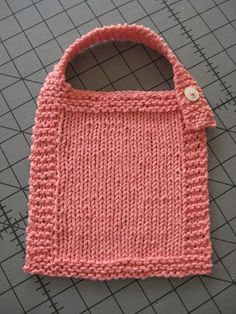 Ravelry: Sideways Garter Stitch Baby Bib pattern by Judith ...