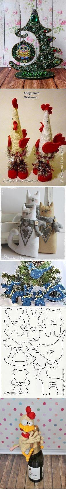 (47) Одноклассники Felt Flower Wreaths, Felt Flowers, Christmas Ornament Crafts, Christmas Decorations, Holiday Decor, Diy And Crafts, Paper Crafts, Animal Crafts, Merry Xmas
