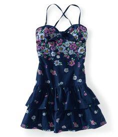 Floral Halter Woven Dress