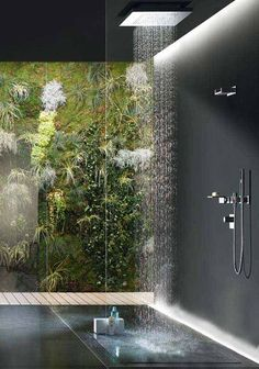 If you want to make a shower look cool and unique, create a rain shower bathroom would be right choice for you. Rain shower can make you have some awesome bathing experience, and is also a place where you can quickly relax after a hard working day. Here we have gathered 27 amazing rain shower … Bathroom Renovations, Master Bathroom Shower, Small Bathroom, Modern Bathroom, New Toilet, Ideal Bathrooms, Bathroom Design Inspiration, Username, Bathroom Accessories