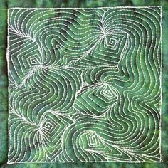 The Free Motion Quilting Project: Day 336 - Square Spiral Flow