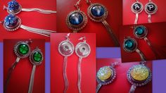 Snap Button Tassels Crystals Earrings Fit 18 20 mm Snaps (without snap buttons)