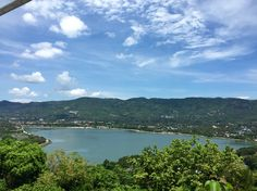 Ausblick auf eine Bucht in Koh Samui, Thailand.