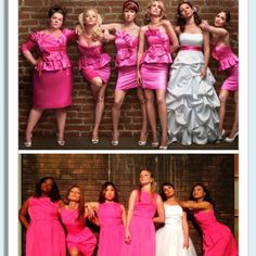 I'm taking this photo with my bridesmaids