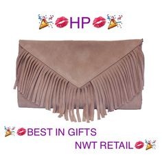 """Handmade Spanish Fringe Suede Leather Clutch Marmott Accessories is a custom handmade Spanish designer bag launched in September 2015. The bag is made from the same leather and craftsmanship as famous Spanish luxury designer brand Loewe, which is exquisite with affordable price.  Perfect Gift for Someone Special in Holiday Season!  Deliver from Madrid, Spain to NY in 10 days after placing the order  Product detail: • 14""""x12.8""""x4.4"""" • Color: Taupe • Material: 100% Suede Leather • Attachable…"""