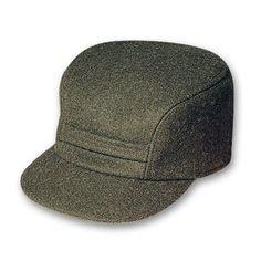 64585db5de6 Discover the Filson Mackinaw Cap. A warm wool cap with hidden earflaps