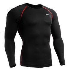 emFraa Men Women Skin Tight Baselayer T Shirt Running Black Top Longsleeve M * Check this awesome product by going to the link at the image. (This is an affiliate link)